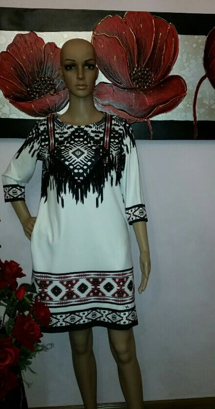 la-mode-tribal-pattern-print-tunic-dress-with-suede-detail