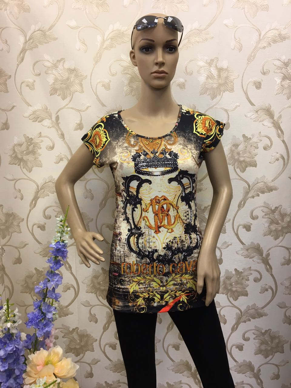 roberto-cavalli-silver-and-gold-beaded-short-sleeve-shirt