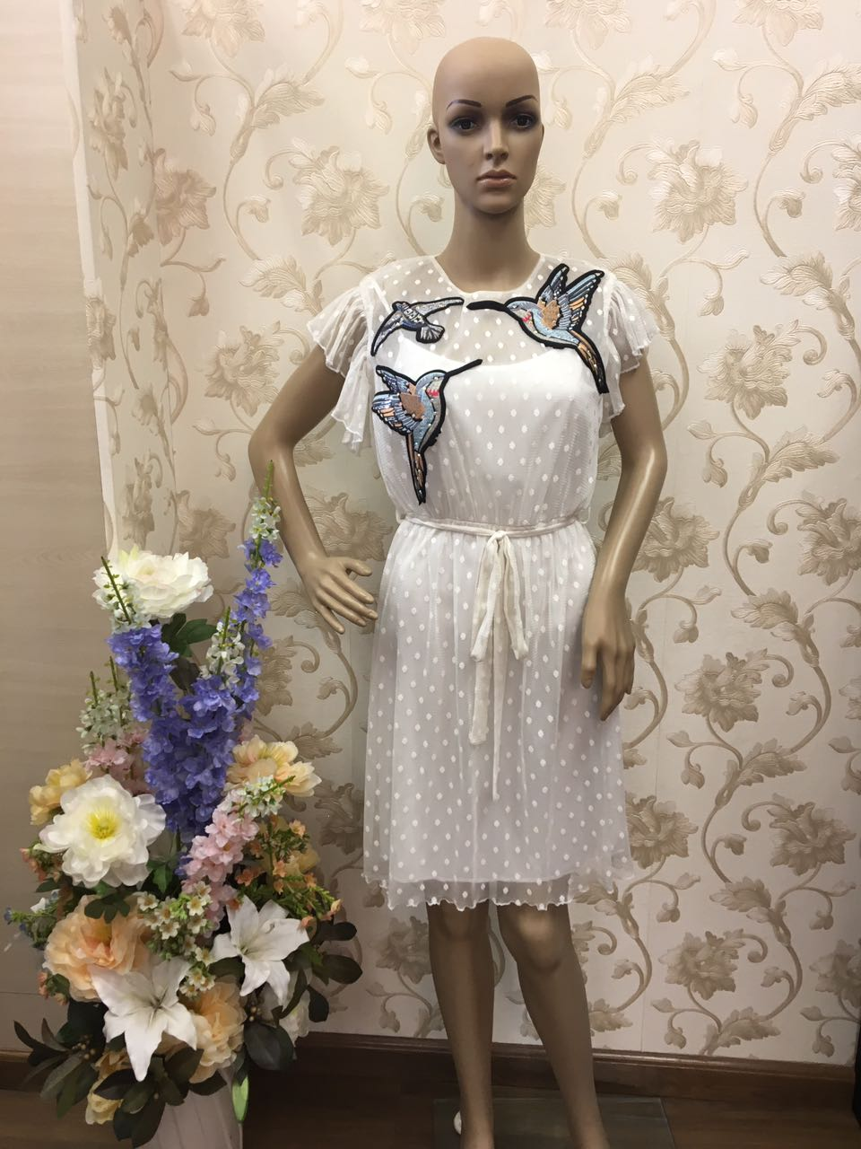 fastoso-petite-white-lace-dress-with-bird-embroidery